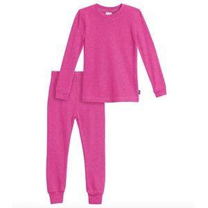 City Threads Girls Pink Thermal Long John Pajamas